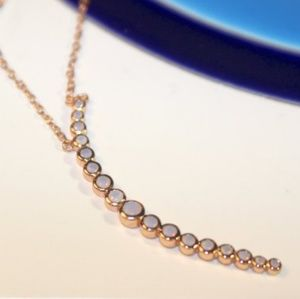 Crescent Moon Rose Gold Moonstone Necklace